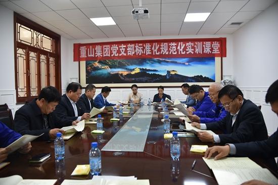 集团组织党支部标准化规范化实训46