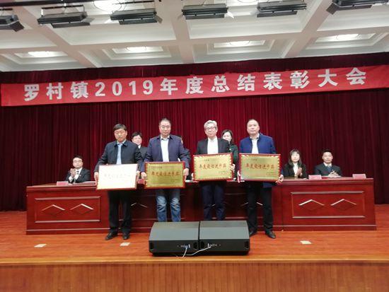 重山集团荣获罗村镇财税贡献第一名97