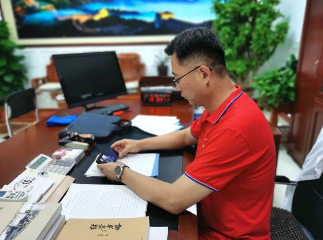 集团党员收看区委书记李新胜讲党史上党课94