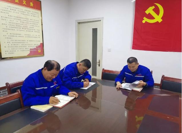 鲁中水泥党支部组织召开支委会、 主题党日活动0