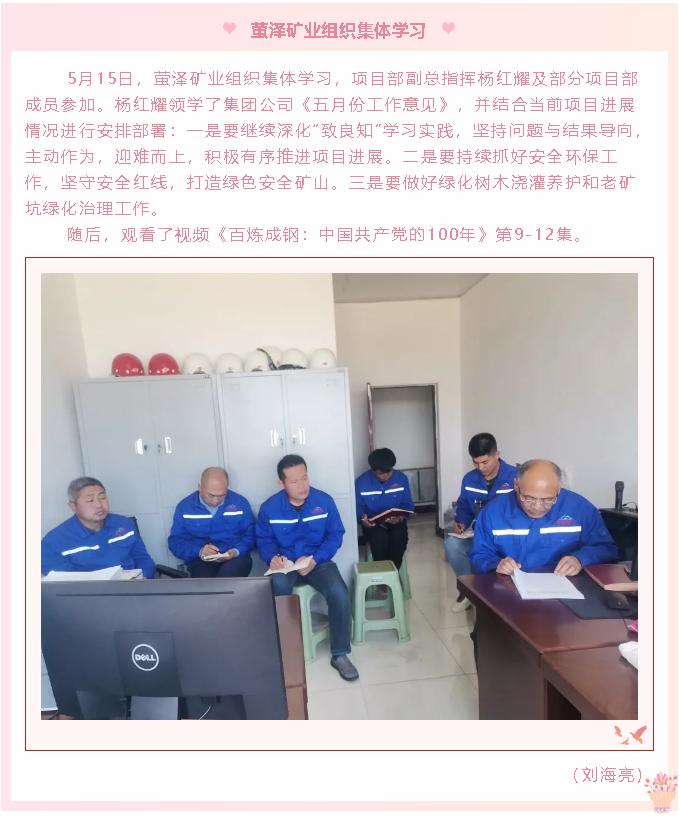 萤泽矿业组织集体学习50