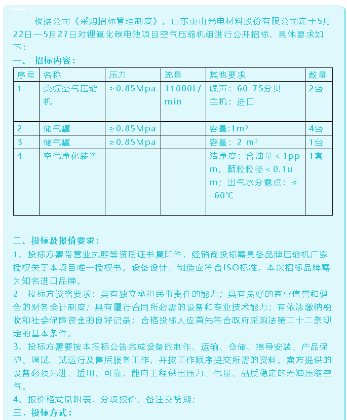 【招标公告】重山光电62